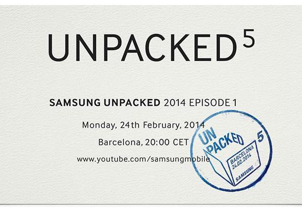 Invitation pour la présentation du nouveau Galaxy S5