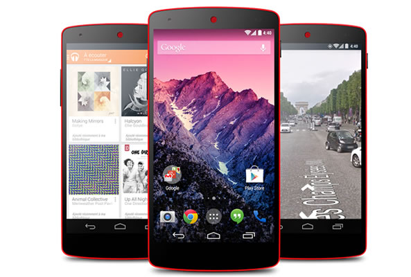 Nexus 5 en version rouge