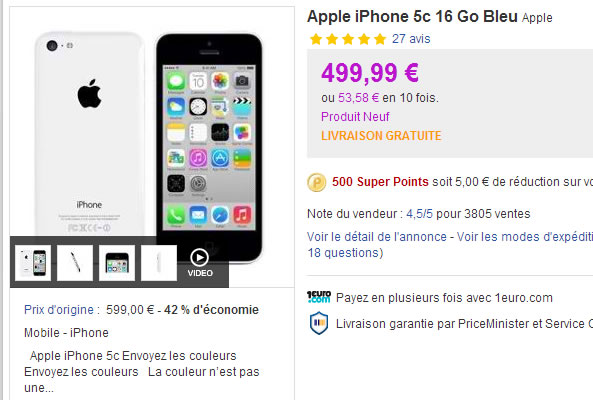 Promotion Apple iPhone 5C
