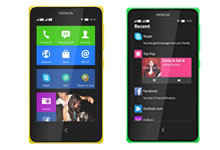 Smartphone Nokia X fonctionnant sous Android