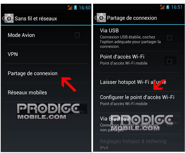 configurer point accès Wi-Fi smartphone Android