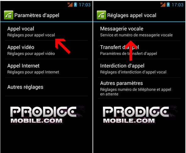 Modifier le numéro de la messagerie vocale de son smartphone Android