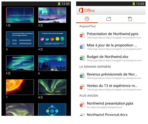 Office gratuit pour les smartphones Apple et Android