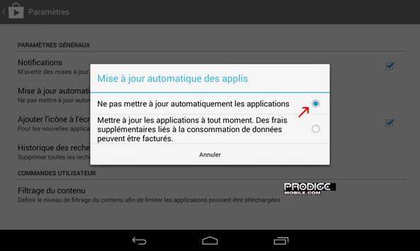 Bloquer mises à jour automatiques Android