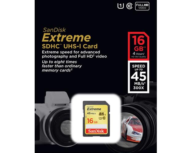 carte mémoire SanDisk Extreme
