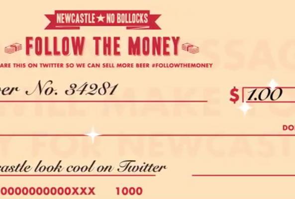 1 dollar pour chaque nouvel abonné Twitter