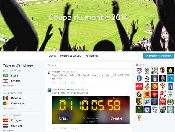 Suivre la Coupe du monde sur Twitter