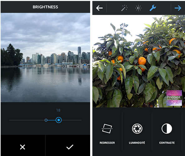 Instagram 10 outils de retouche