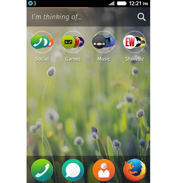 Téléphone avec Firefox OS