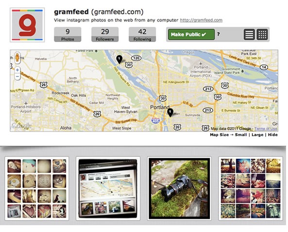 Gramfeed outil pour Instagram