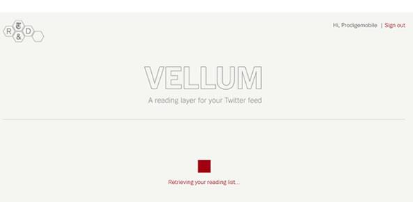 Vellum: Outil de veille pour Twitter
