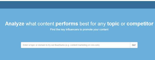 BuzzuSumo détecte les contenus les plus partagés