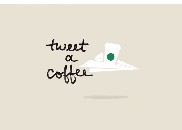 Starbucks opération tweet un café
