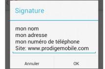 Comment définir une signature dans l'application Gmail pour Android