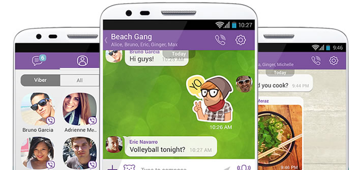 Appels vidéos sur l'application Viber