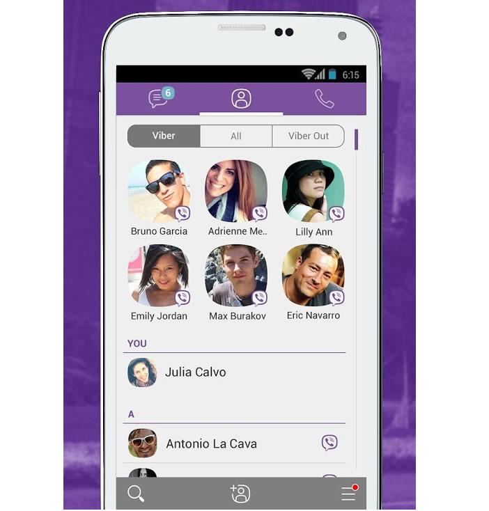 Nouvelle interface Viber