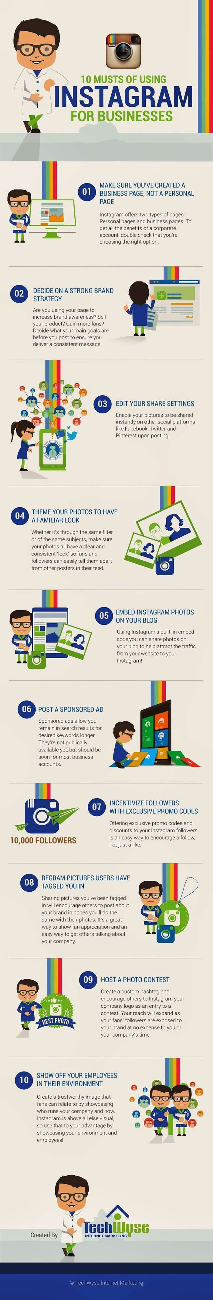 Infographie: instagram pour votre entreprise