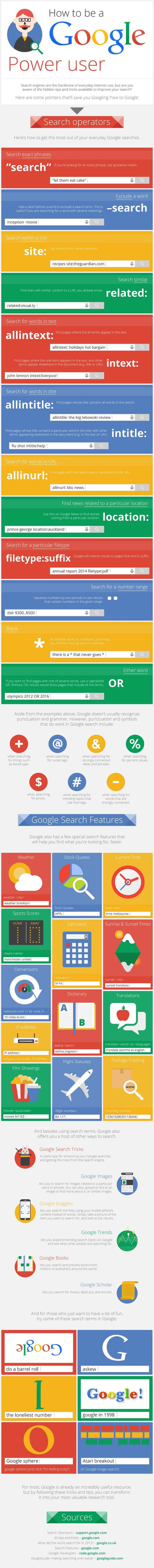 Infographie - Astuces pour mieux maîtriser Google