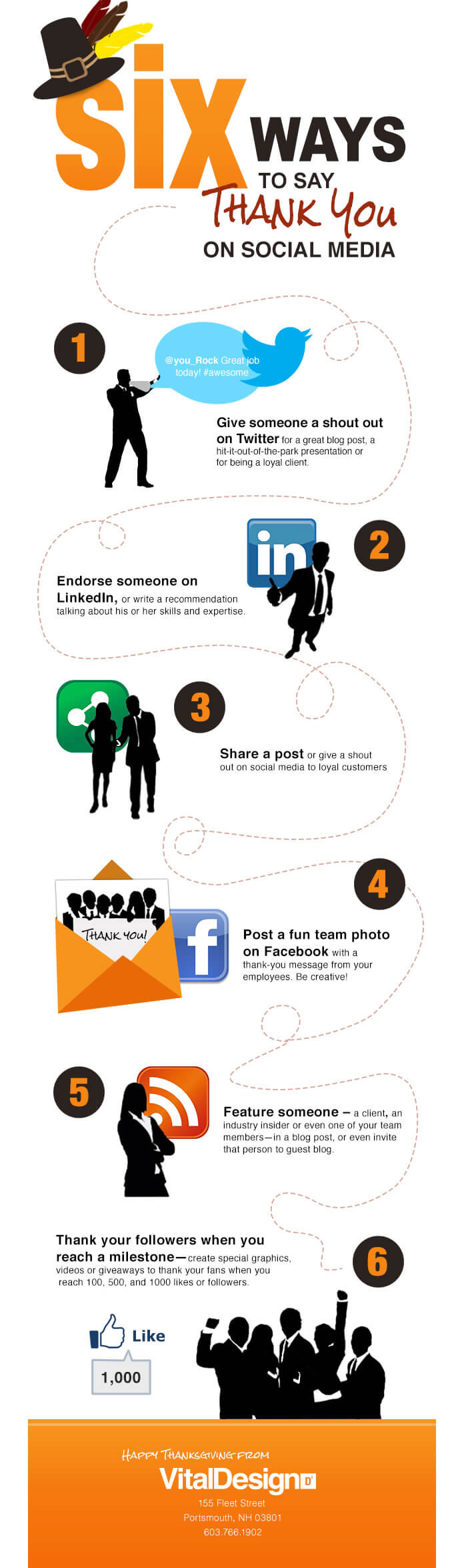 Infographie - 6 façons de remercier les fans sur les réseaux sociaux