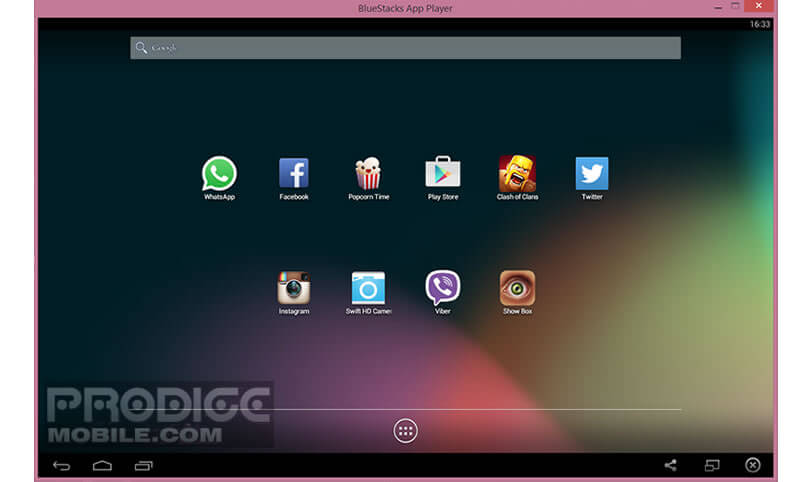 Interface de Bluestacks