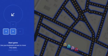 Pac Man sur Google Maps