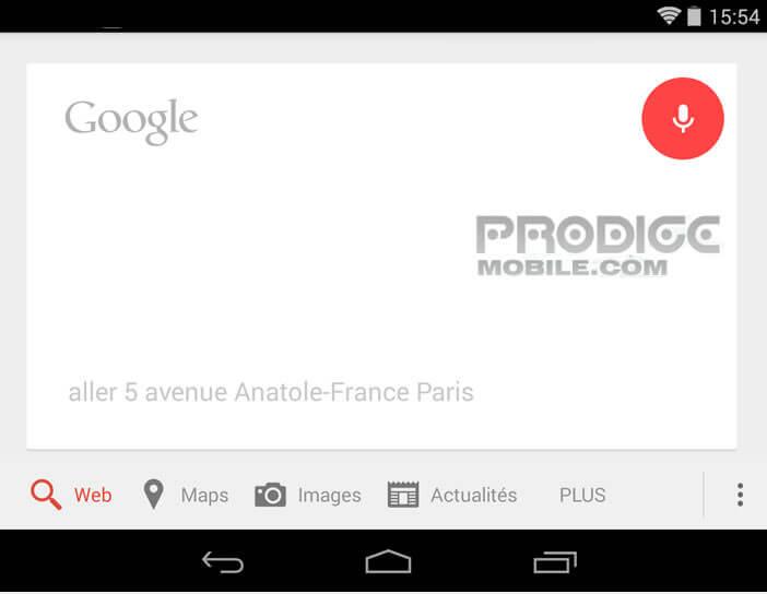 Google Maps : Recherche vocale