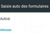 Activer la saisie automatique de Google Chrome
