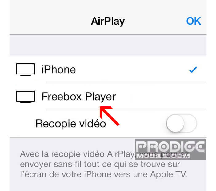 AirPlay - Freebox player