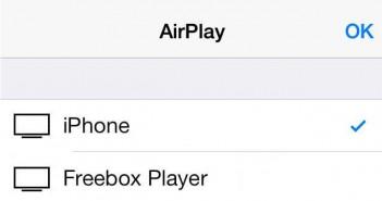 Contenu de votre iPhone sur votre Freebox