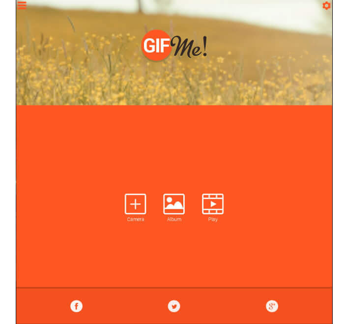 Application Android : Gif me! Camera