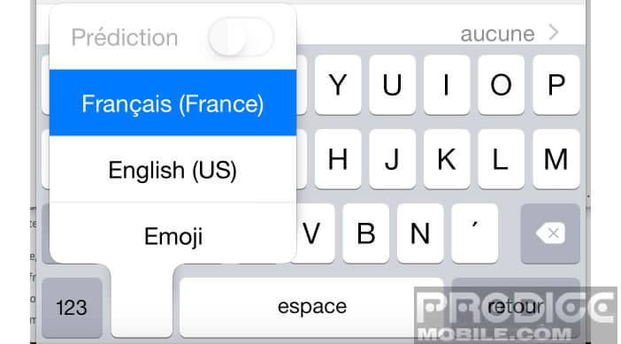 Activer le mode Prédiction de votre clavier Apple