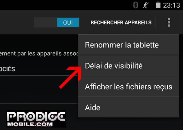 Bluetooth : délai de visibilité