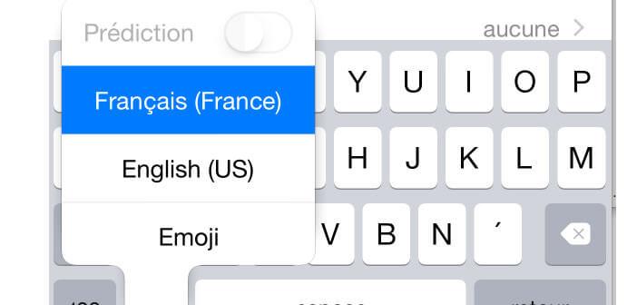 Passer mot en majuscule sur iPhone