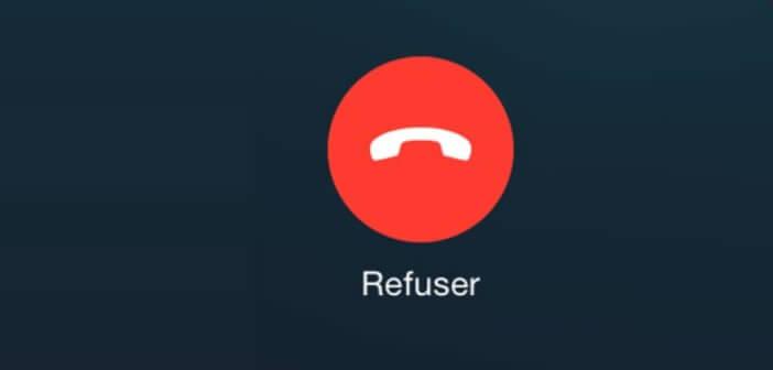 Refuser un appel sur iPhone