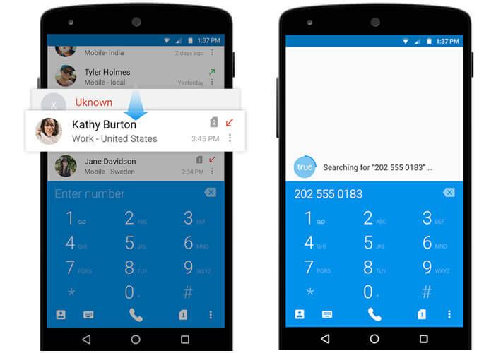 Truedialer - Dialer pour smartphone Android