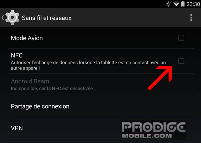 Activer NFC sur un smartphone Android