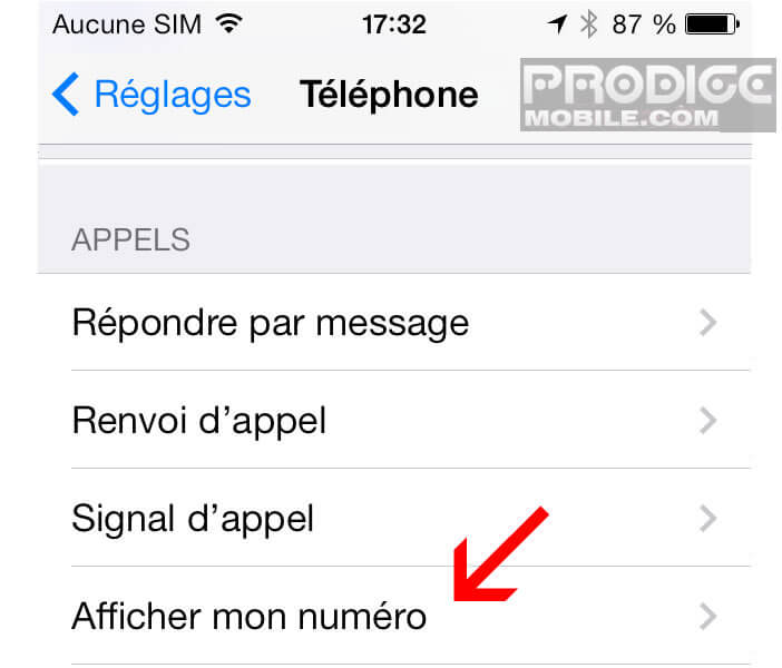 appel numero telephone