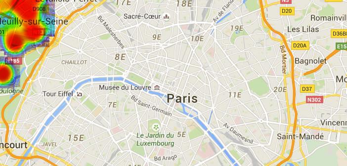 Visualisation des données de localisation