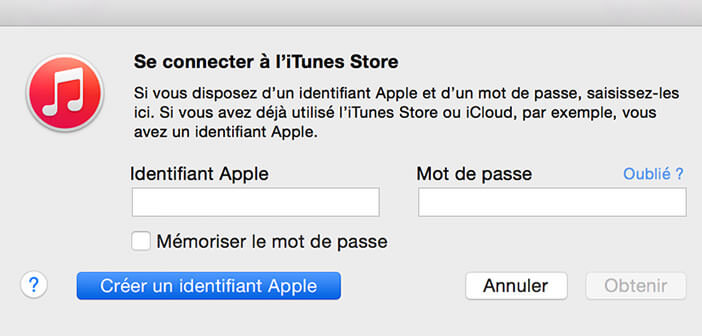 inscription identifiant apple