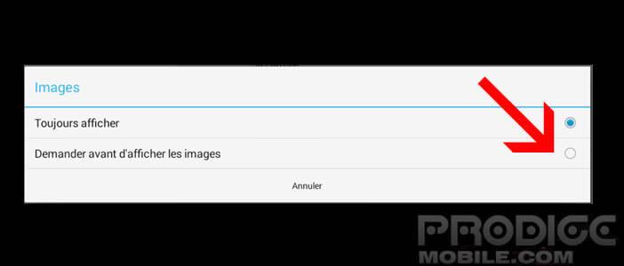 Bloquer l'affichage des images dans Gmail