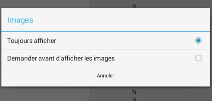 Empêcher chargement des images dans Gmail