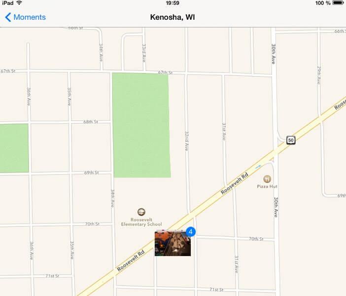 Géolocalisation des photos sur carte