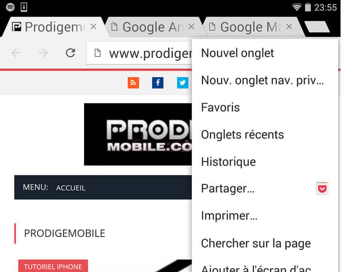 Grossir les caractères Android