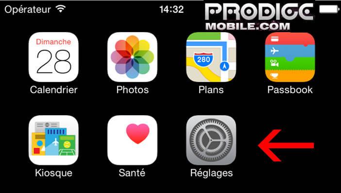 Réglages de l'iPhone et de l'iPad