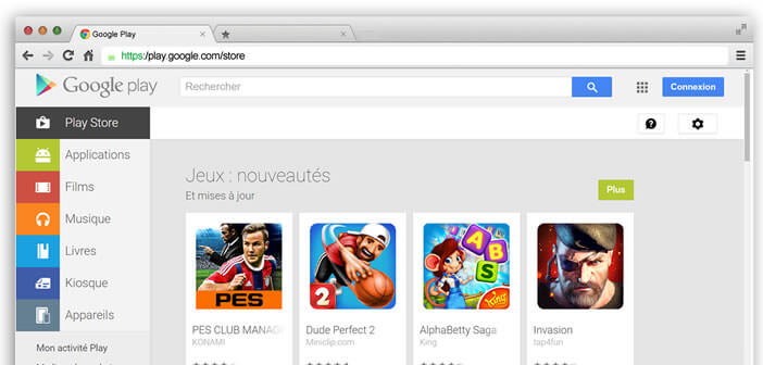 Installer application sur deux android