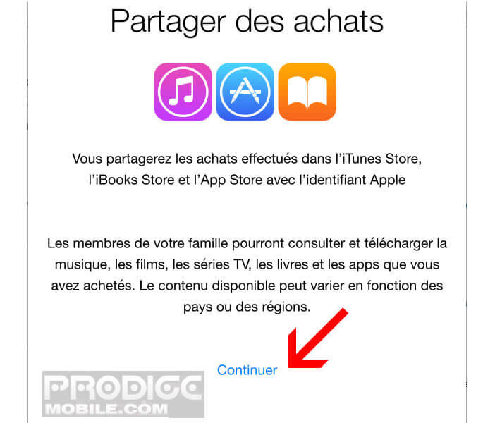 Partager vos achats d'applications - Apple iPhone