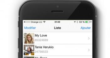 Photo de vos contacts sur l'écran d'accueil de l'iPhone