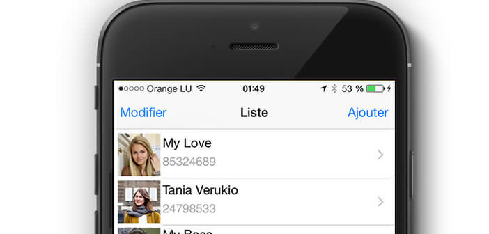 Photo de vos contacts sur l'écran d'accueil de l'iPhone