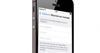 Envoi automatique de SMS sur l'iPhone