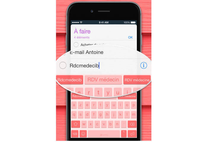 Correction automatique des fautes de frappe et d'orthographe